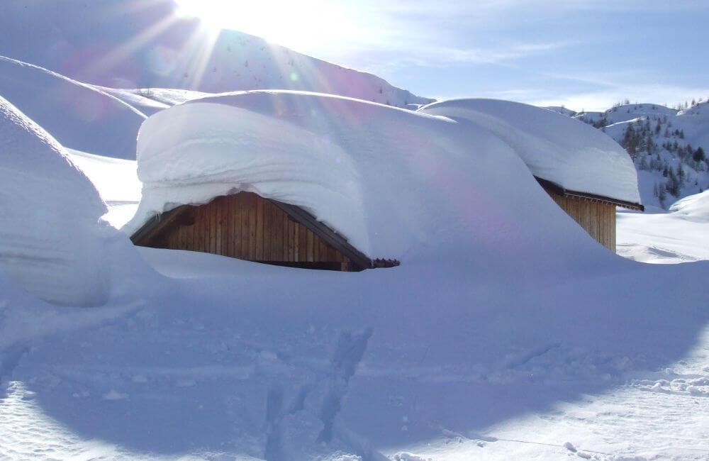 Malga Vales Alto Inverno